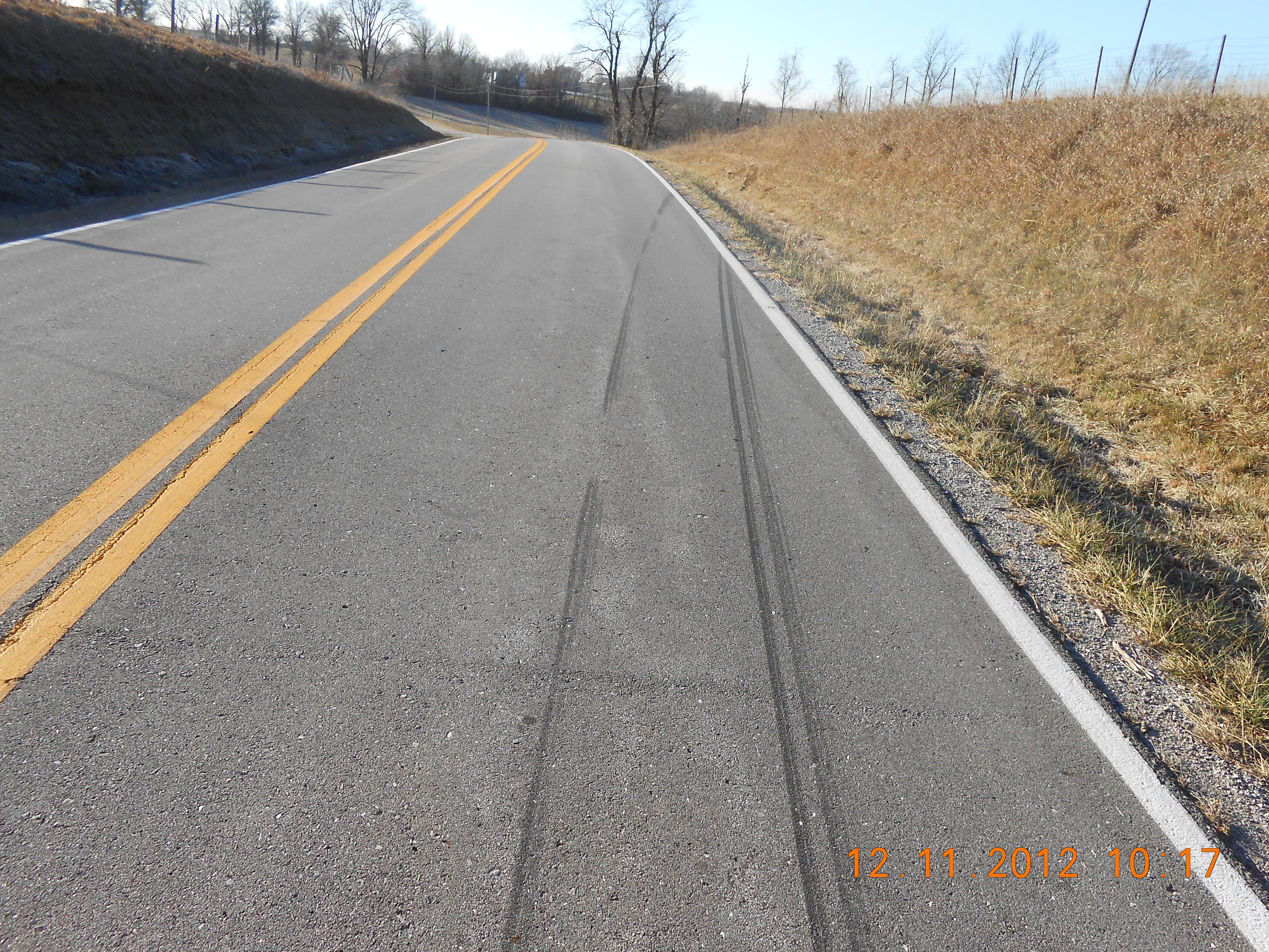 Rural Missouri vehicle accident scene